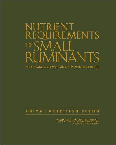 Nutrient Requirements book