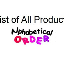 List of All Products