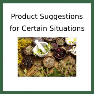 Product Suggestions for Certain Situations